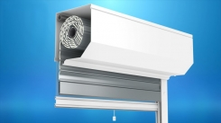 The front mounted ST2000® shutter with a mosquito net